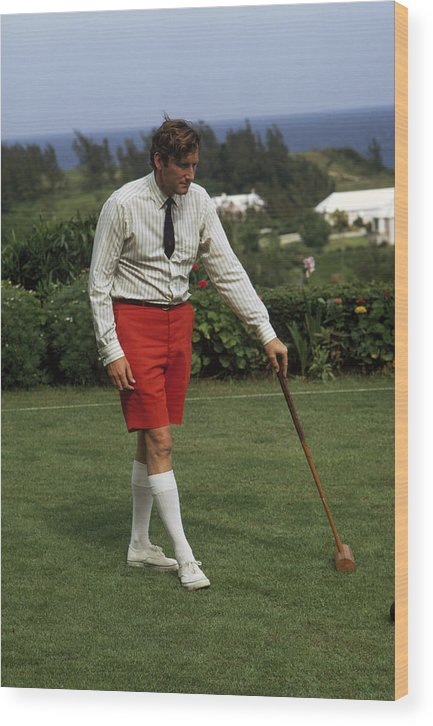 People Wood Print featuring the photograph Croquet by Slim Aarons