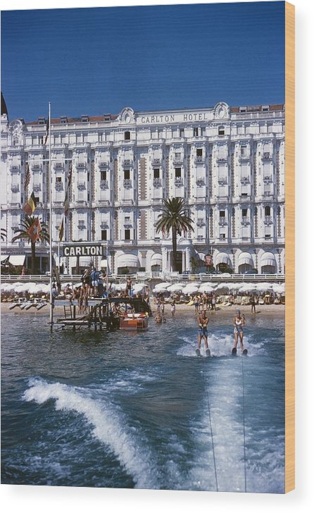 Skiing Wood Print featuring the photograph Hotel Sports by Slim Aarons