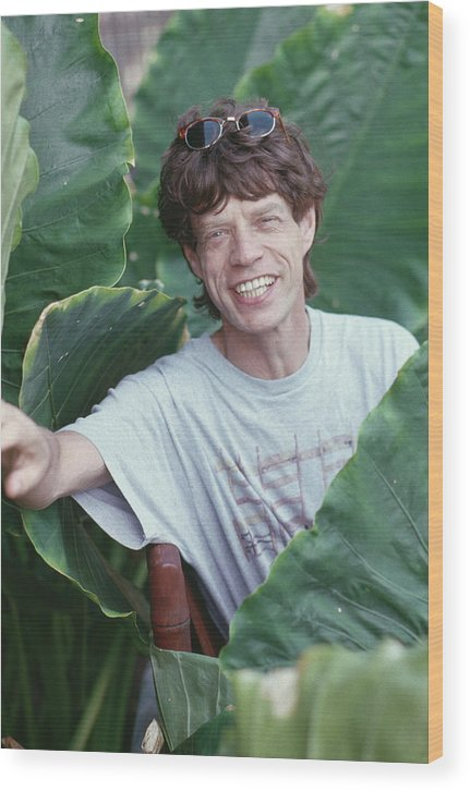 Mick Jagger Wood Print featuring the photograph Jagger On Holiday by Slim Aarons