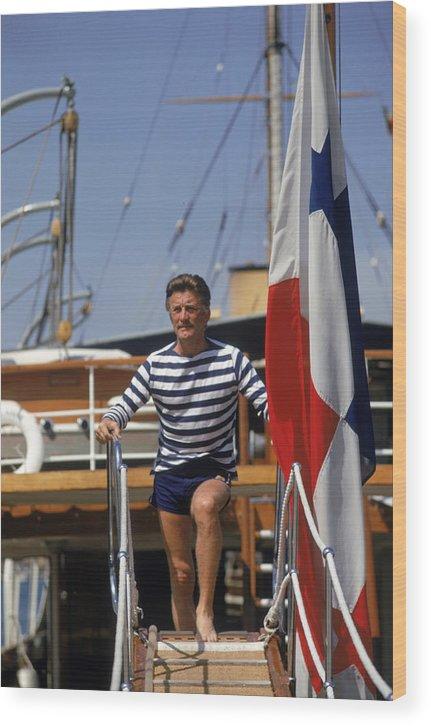 Kirk Douglas Wood Print featuring the photograph Kirk Douglas by Slim Aarons