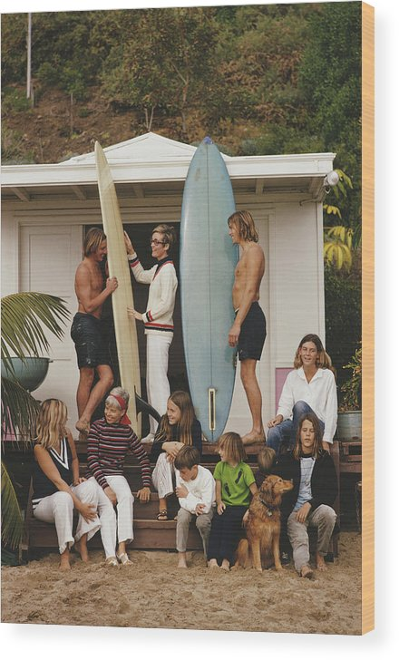 Pets Wood Print featuring the photograph Laguna Beach by Slim Aarons