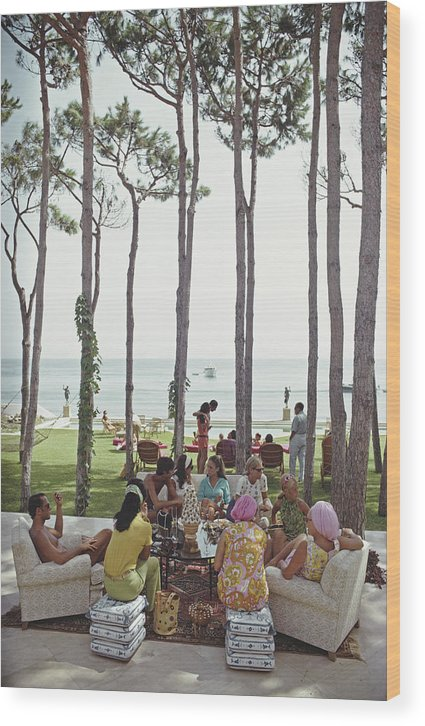 People Wood Print featuring the photograph Marbella House Party by Slim Aarons