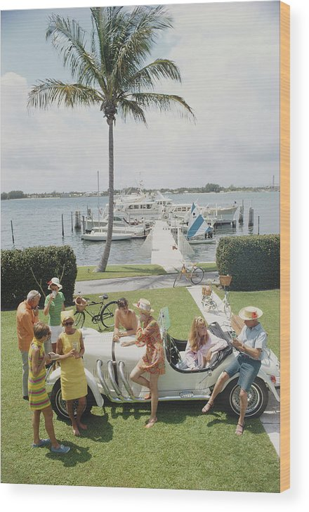 People Wood Print featuring the photograph Palm Beach Society by Slim Aarons