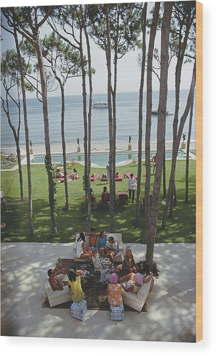 People Wood Print featuring the photograph Party In Marbella by Slim Aarons
