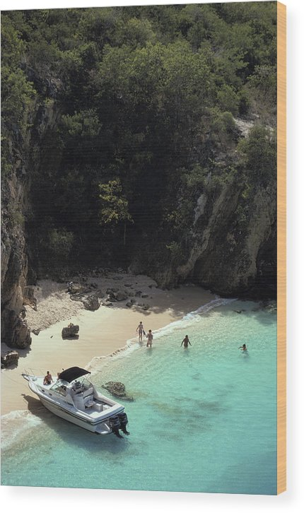 People Wood Print featuring the photograph Trip To Little Bay by Slim Aarons