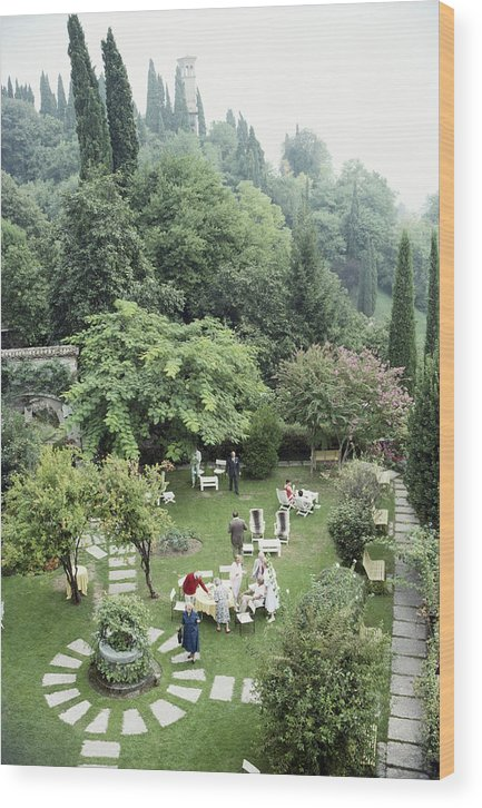 1980-1989 Wood Print featuring the photograph Villa Cipriani by Slim Aarons