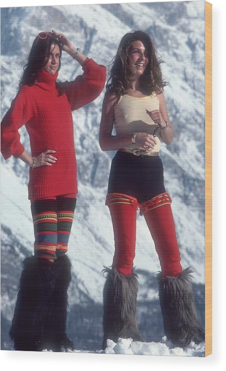 People Wood Print featuring the photograph Winter Wear by Slim Aarons