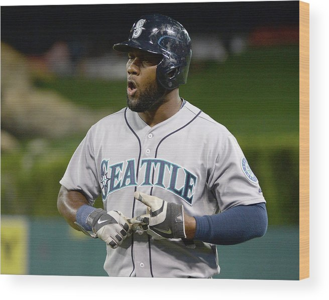 Double Play Wood Print featuring the photograph Seattle Mariners V Los Angeles Angels by Harry How