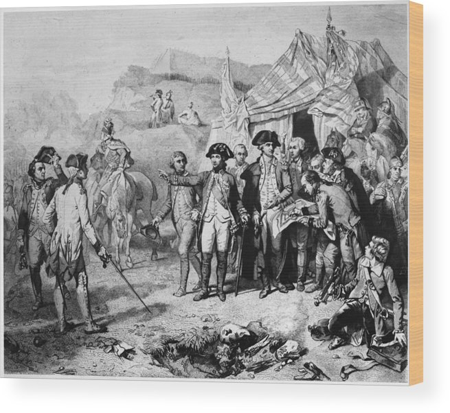 1781 Wood Print featuring the photograph Siege Of Yorktown, 1781 by Granger