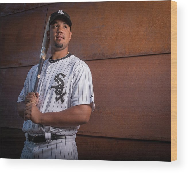 Media Day Wood Print featuring the photograph Chicago Whte Sox Photo Day by Rob Tringali