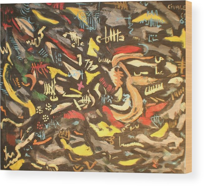 Wood Print featuring the painting Astratto 1957 by Biagio Civale