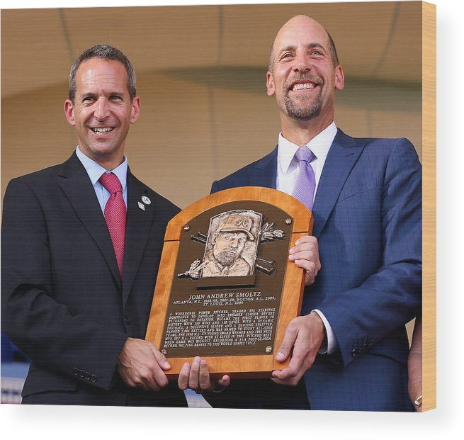 People Wood Print featuring the photograph Baseball Hall of Fame Induction Ceremony by Elsa