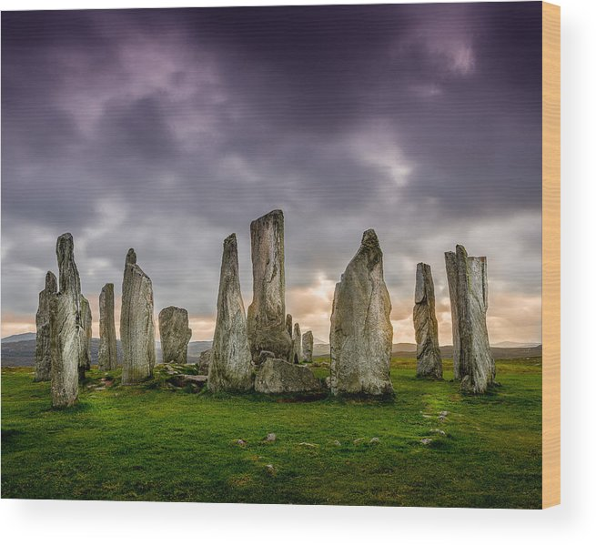 Callanish Wood Print featuring the photograph Callanish Stones by Peter OReilly