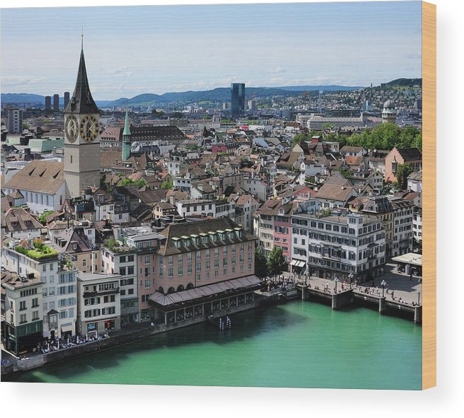 Tranquility Wood Print featuring the photograph Church Sankt Peter by Werner Büchel