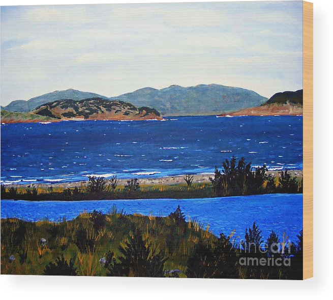 Islands Wood Print featuring the painting Iona formerly Rams Islands by Barbara Griffin