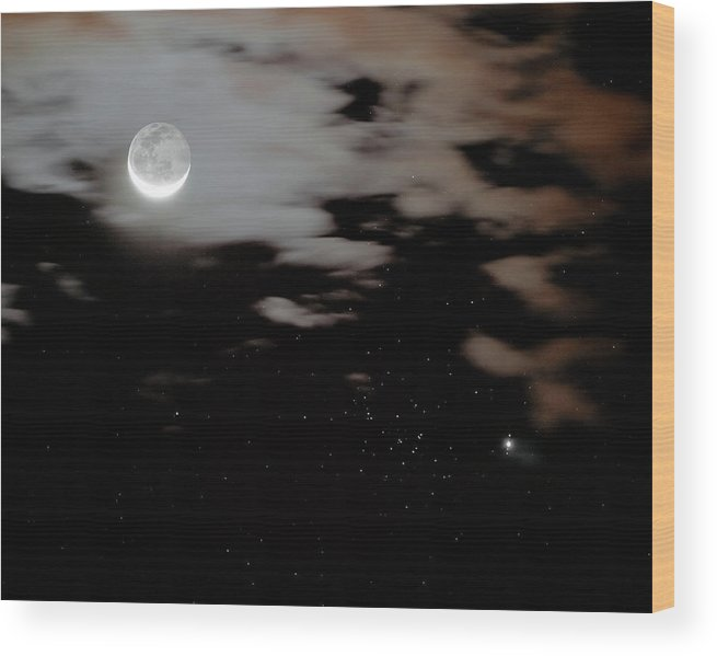 Beehive Wood Print featuring the photograph Moon by Russell Croman/science Photo Library