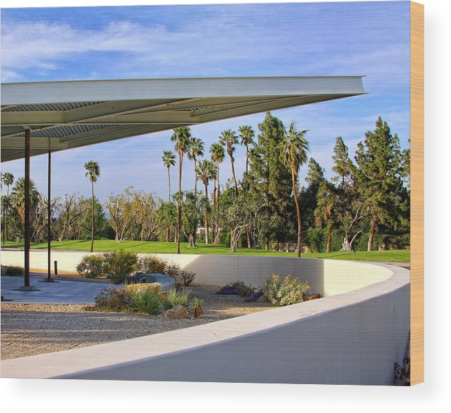 Palm Springs Wood Print featuring the photograph OVERHANG Palm Springs Tram Station by William Dey
