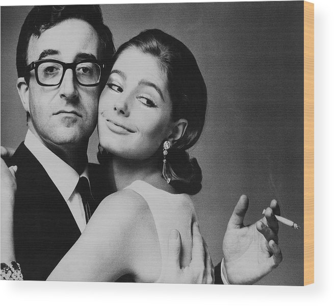 Actor Wood Print featuring the photograph Peter Sellers Posing With A Model by Jereme Ducrot
