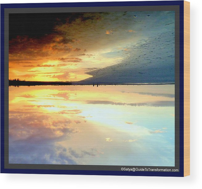 Water Wood Print featuring the photograph Sky Meets Water by Satya Winkelman
