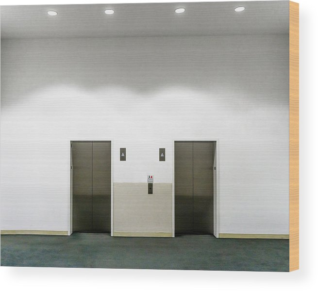 Empty Wood Print featuring the photograph View Of Elevators by Jesse Coleman / EyeEm