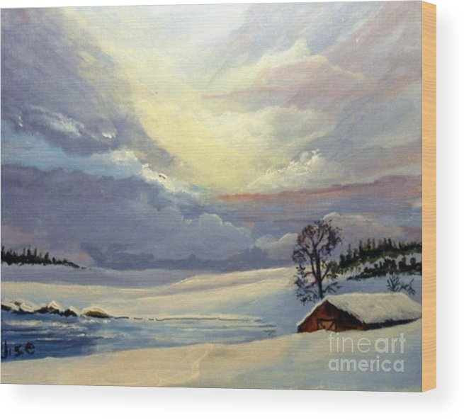 Sunrise Wood Print featuring the painting Bone Cold by John Wise