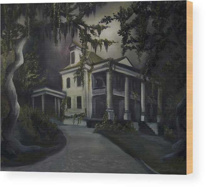 Ruins Wood Print featuring the painting The Dark Plantation by James Christopher Hill