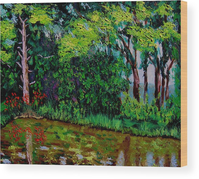Plein Air Wood Print featuring the painting Bcsp 6 29 by Stan Hamilton