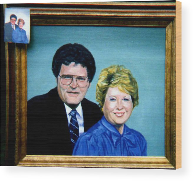 Double Portrait Wood Print featuring the painting Double Portrait by Stan Hamilton