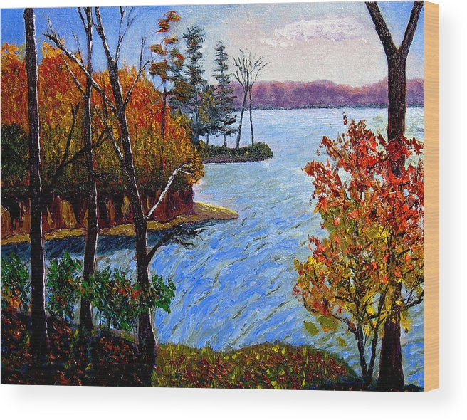 Plein Air Wood Print featuring the painting Ecp 10 26 by Stan Hamilton