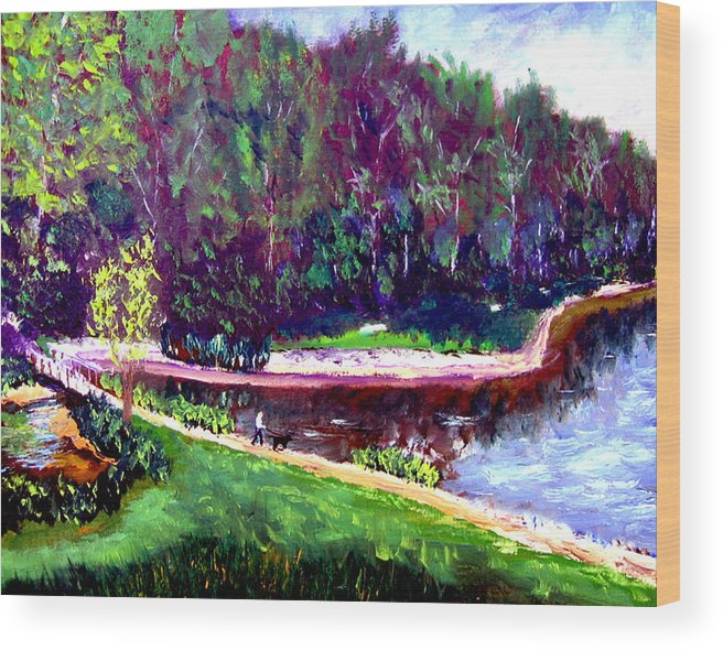 Plein Air Wood Print featuring the painting Ecp 6 20 by Stan Hamilton