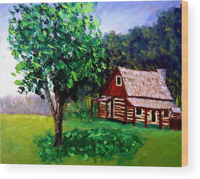 Plein Air Wood Print featuring the painting Bcsp 5 8 by Stan Hamilton