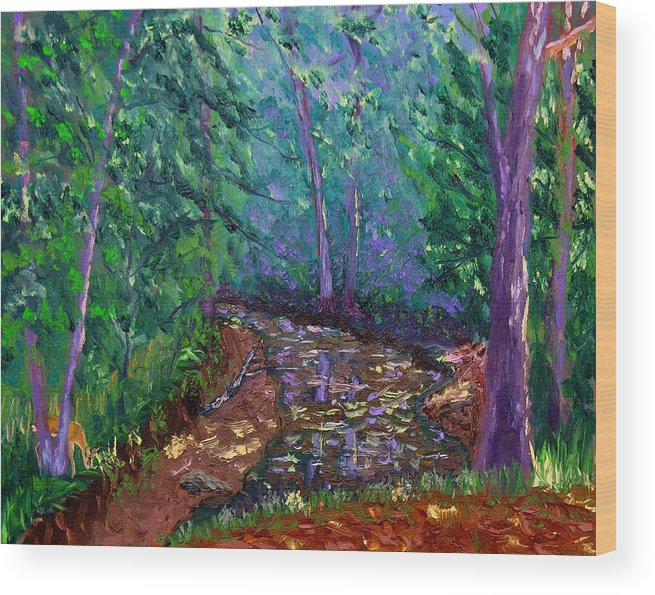 Original Oil On Canvas Wood Print featuring the painting Bcsp 9-20 by Stan Hamilton