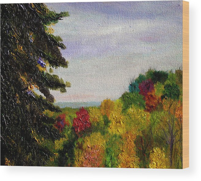 Plein Air Wood Print featuring the painting bcsp Outlook by Stan Hamilton