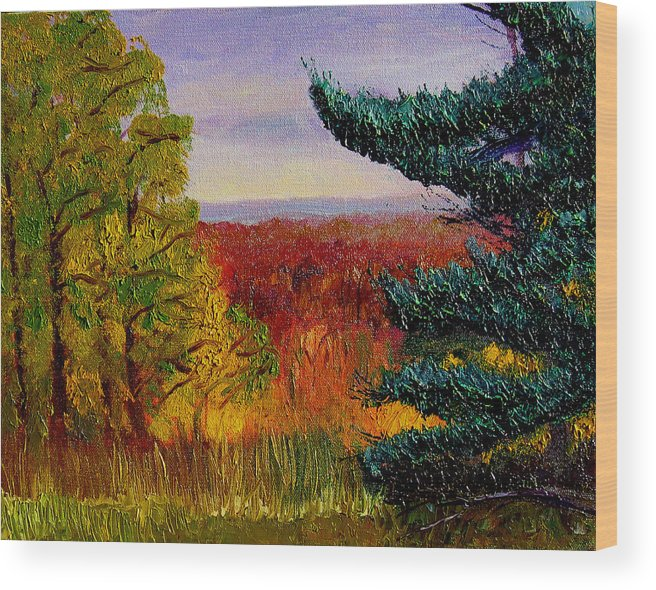 Plein Air Wood Print featuring the painting Bcsp16 by Stan Hamilton