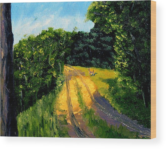 Plein Air Wood Print featuring the painting Bcsp6 by Stan Hamilton