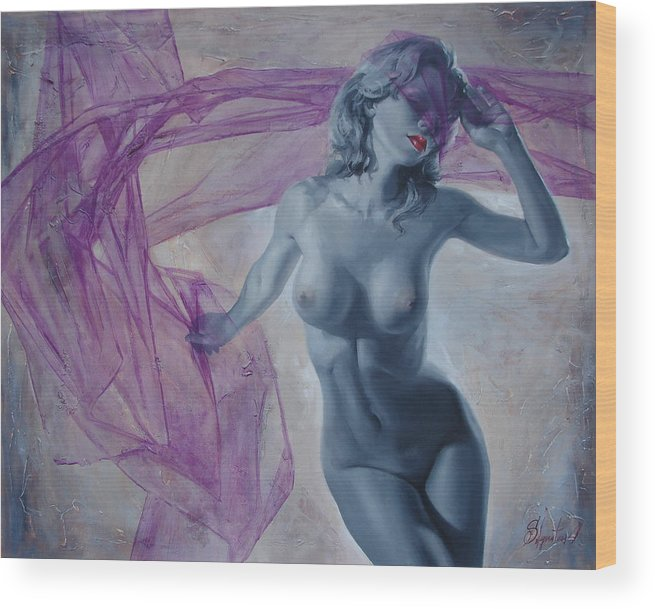 Ignatenko Wood Print featuring the painting Doll by Sergey Ignatenko