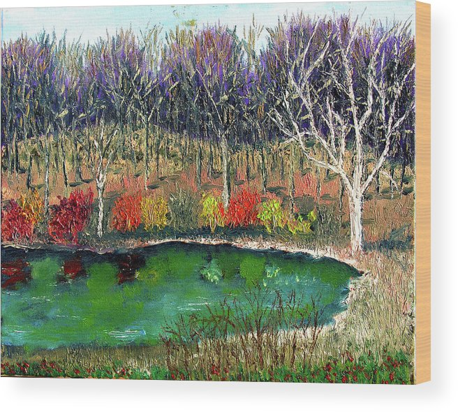 Plein Air Wood Print featuring the painting Ecp 11 14 by Stan Hamilton