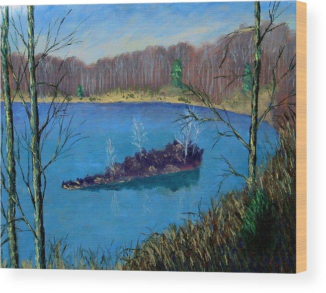 Plein Air Wood Print featuring the painting Ecp 12 30 by Stan Hamilton