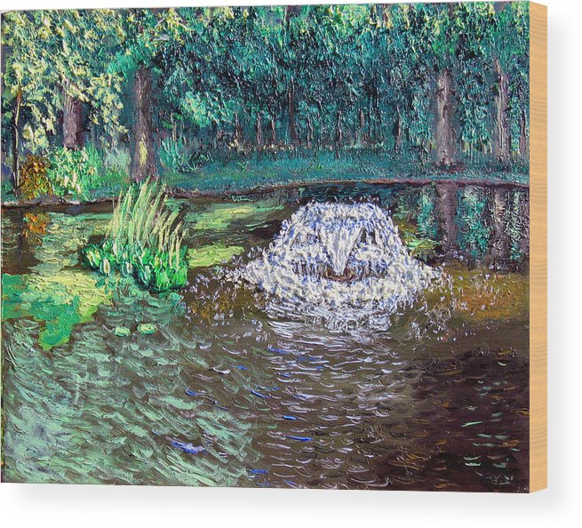 Original Oil On Canvas Wood Print featuring the painting Ecp 7-12 by Stan Hamilton