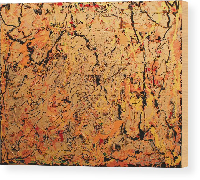 Color And Creative Movement Wood Print featuring the painting Ferramenta by Biagio Civale