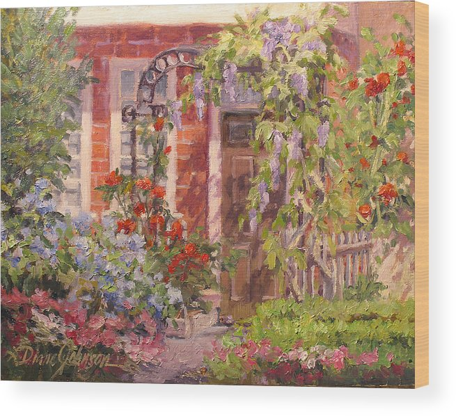 Impressionism Wood Print featuring the painting Flavor of England by L Diane Johnson