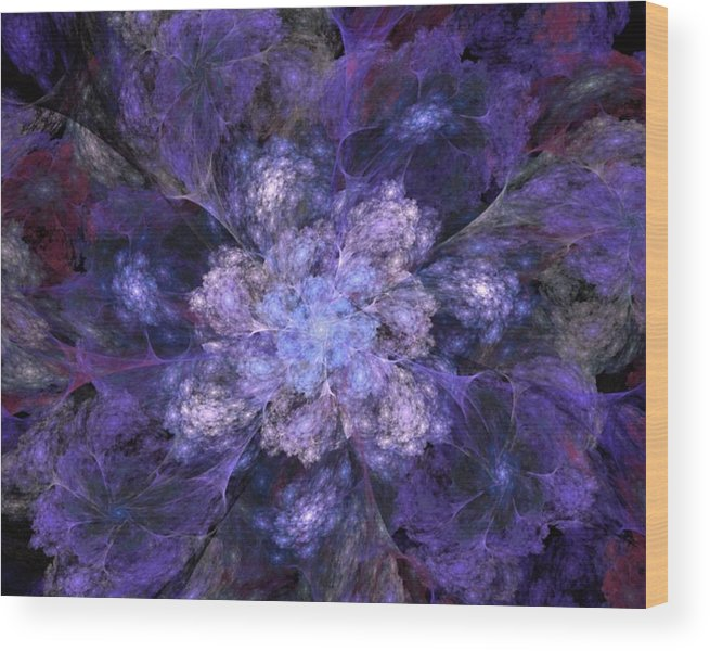 Digital Painting Wood Print featuring the digital art Floral Fantasy 1 by David Lane