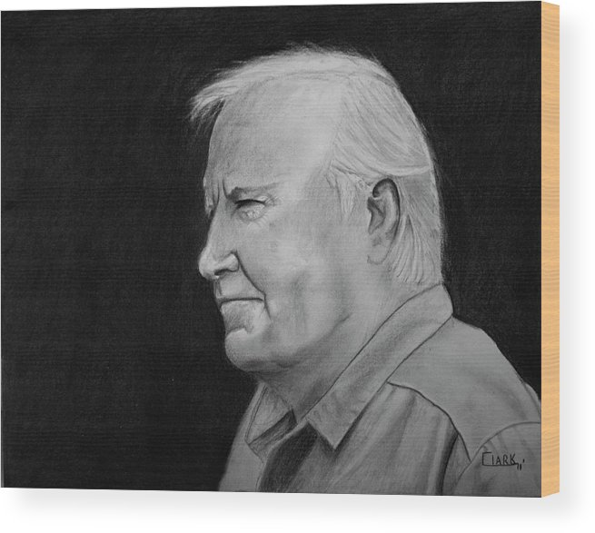 Portraits Wood Print featuring the drawing Glen by Wade Clark