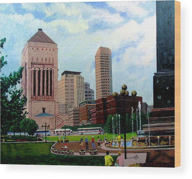Indianapolis Wood Print featuring the painting Indy Festival by Stan Hamilton