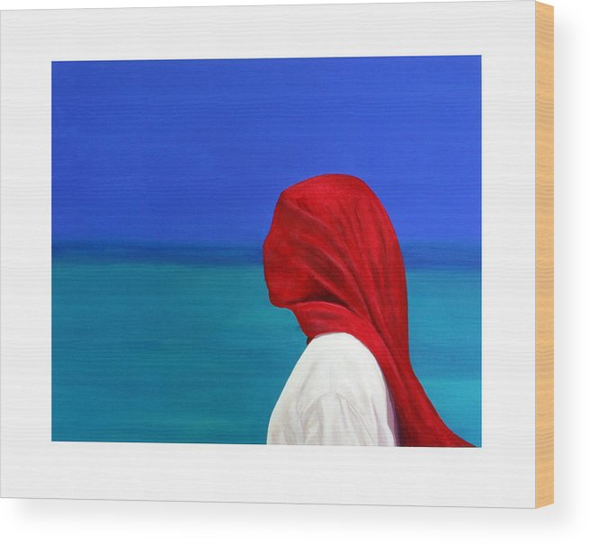 Red Wood Print featuring the painting It Could Be You by Fiona Jack