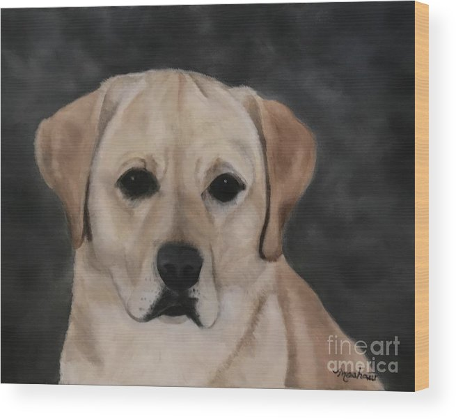 Dog Wood Print featuring the painting Meet Ziggy by Sheila Mashaw