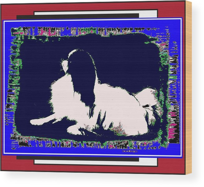 Mod Dog Wood Print featuring the digital art Mod Dog by Kathleen Sepulveda