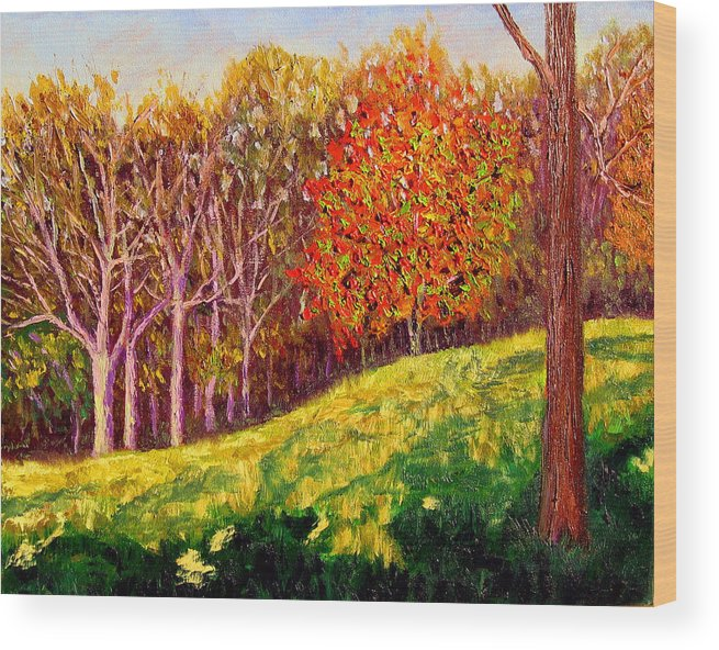 Autumn Wood Print featuring the painting Mooresville October by Stan Hamilton