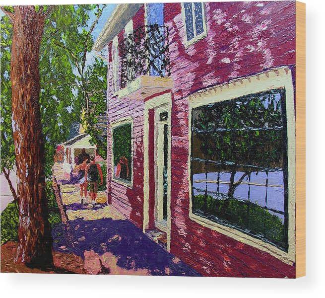 Pallet Knife Wood Print featuring the painting Nashville Upside Down by Stan Hamilton
