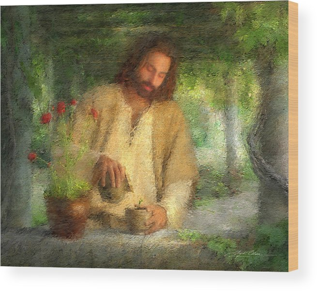 Jesus Wood Print featuring the painting Nurtured by the Word by Greg Olsen